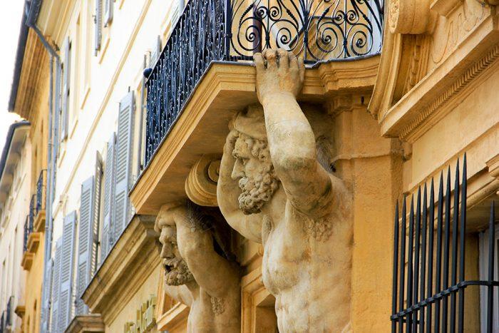 Greffe du Tribunal de Commerce Facade In Aix-en-Provence