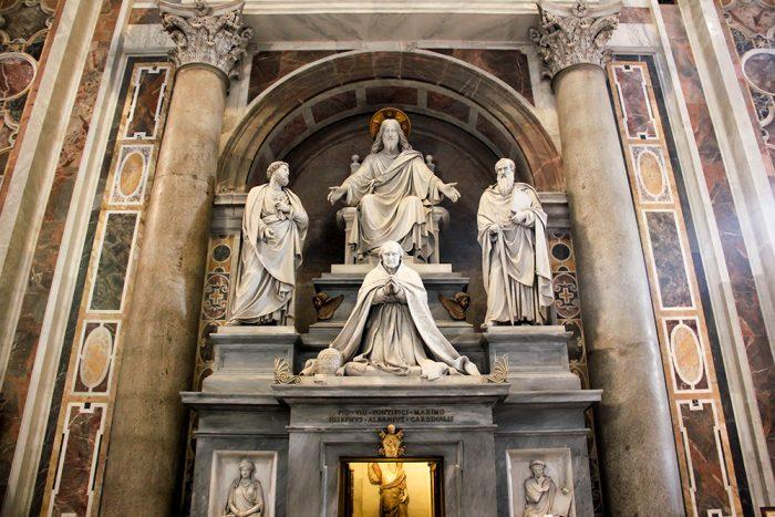 Pope Pius Tenerani Monument In St. Peters Basilica In Vatican City