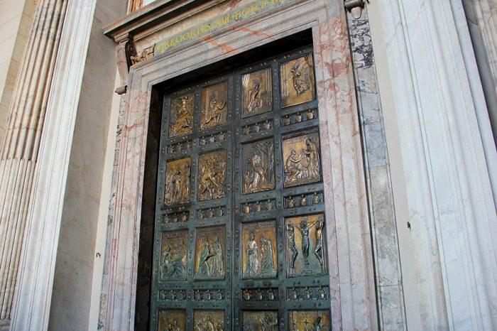 Porta Santa In St. Peters Basilica In Rome