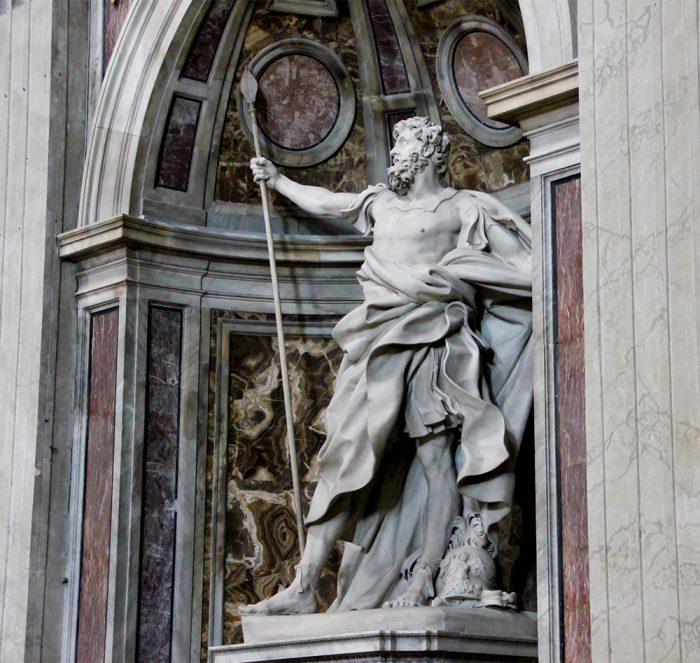 St. Longiunus Statue By Bernini