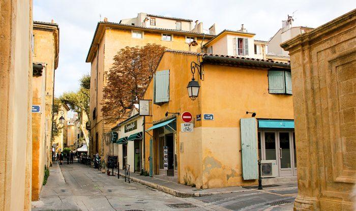 The Corner Of Rue Joseph Cabassol And Rue Mazarine In Aix-en-Provence