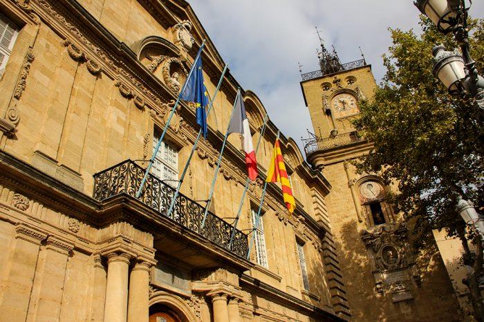 Town Hall And Place de Hotel de Ville In Aix-en-Provence