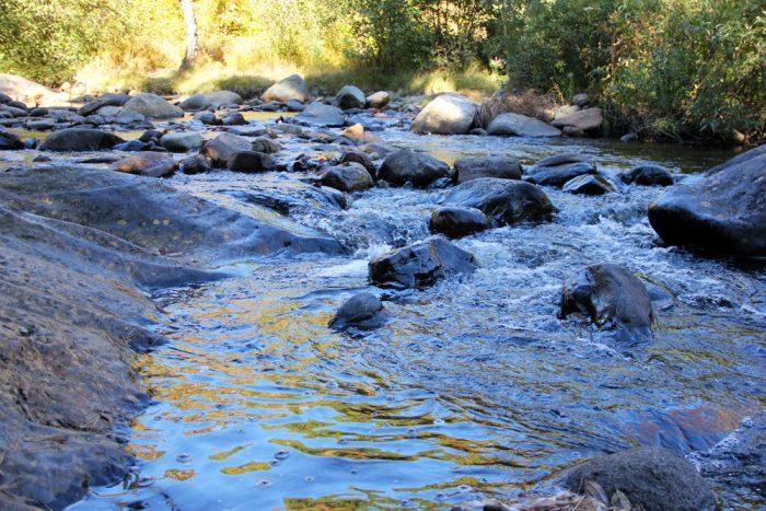 Flowing Water At Smalls Falls Waterfall