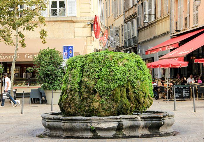 Hot Water Fountain In Aix-en-Provence
