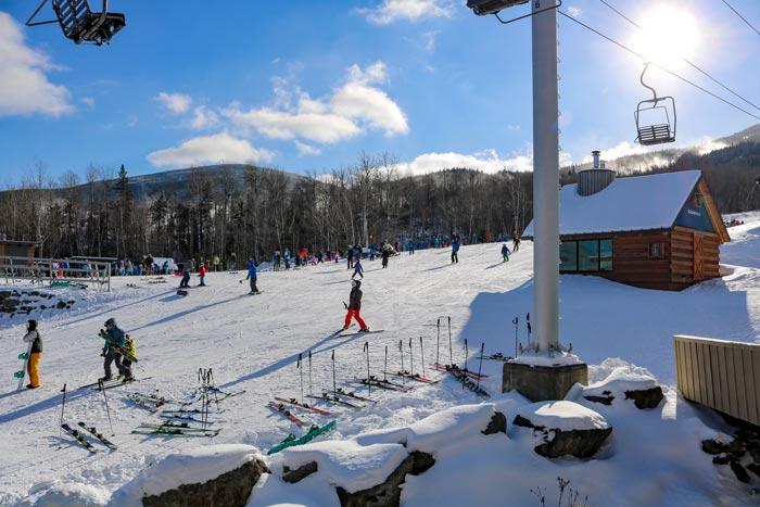 Sugarloaf Base Skiers