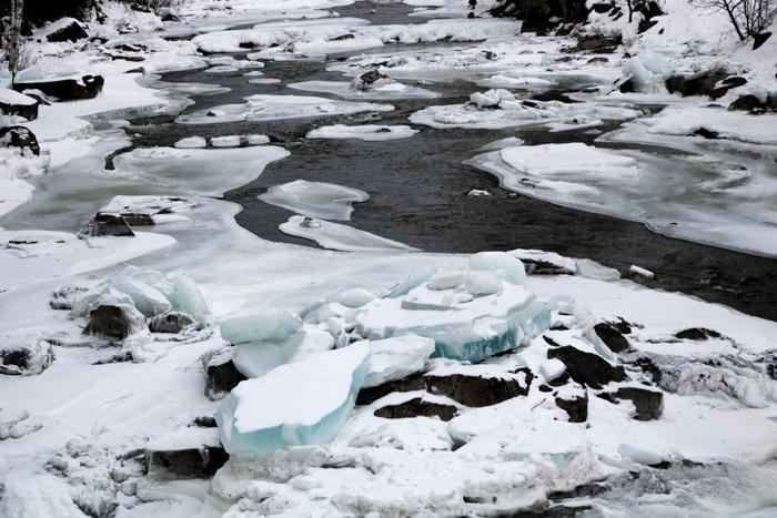 Carrabassett River Ice Formations