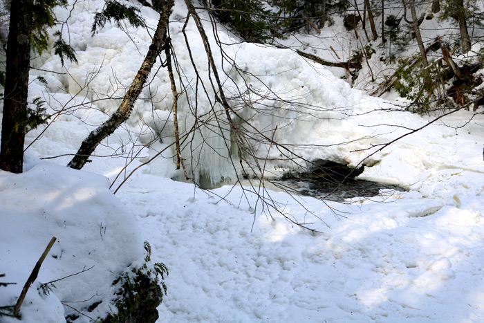 The Bottom Of Poplar Stream Falls Frozen With Ice