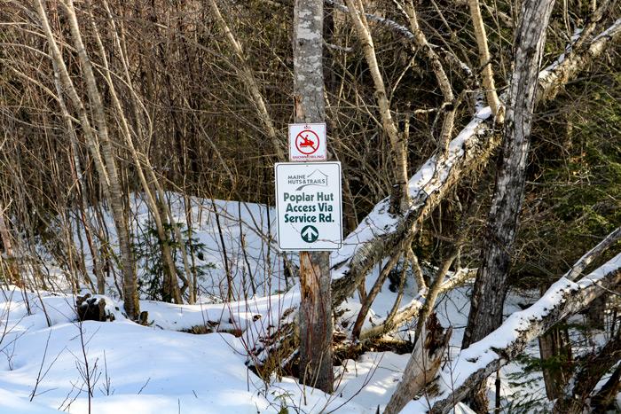 Poplar Hut Access Trail Entrance