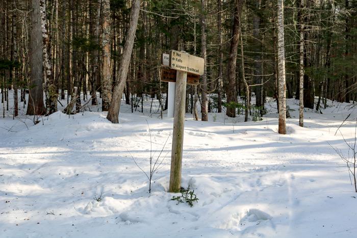 Poplar Hut Trail Sign