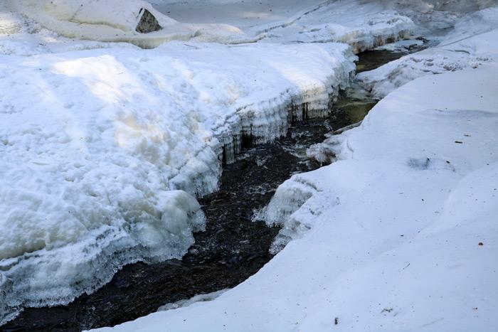 A Break In The Ice In Poplar Stream Falls