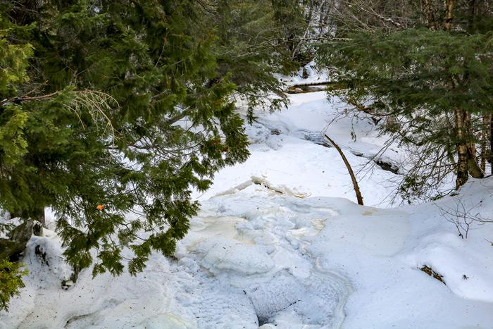 The Top Of Poplar Stream Falls In Maine