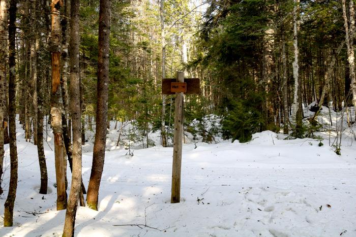 Trail Sign To Poplar Hut