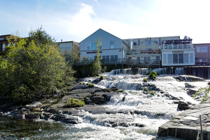Camden Harbor Waterfall