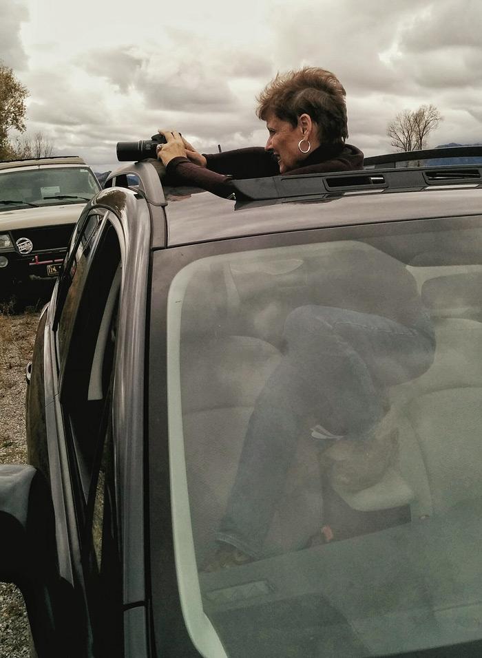 Norma Brandsberg In Car