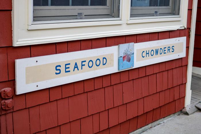 Seafood Chowder Sign