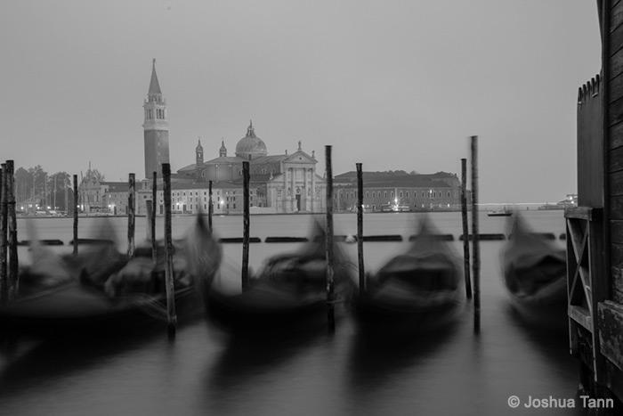 Gondolas In Black And White