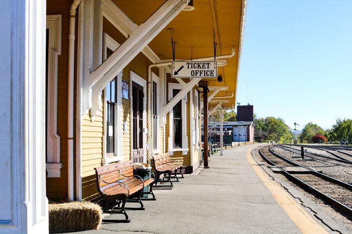 Conway Scenic Railway Platform