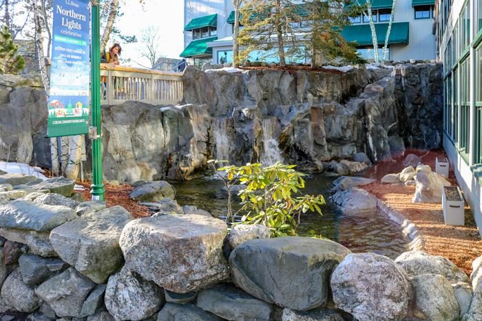Pond Outside L.L. Bean