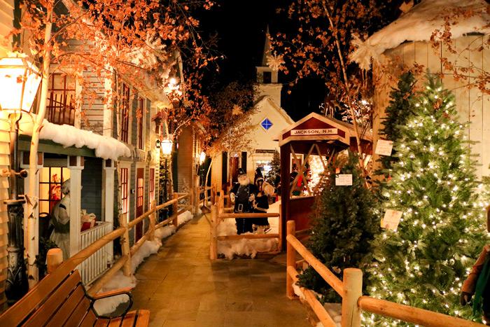 Village Display Inside The Christmas Loft