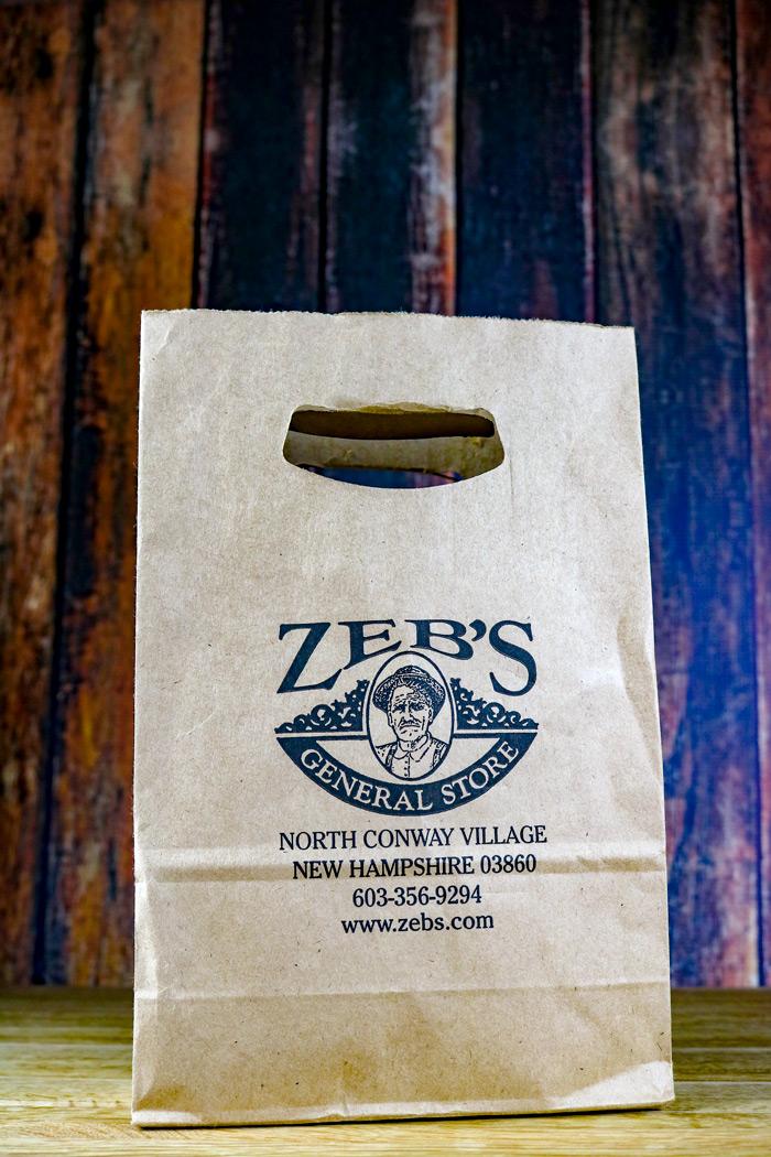 Zebs General Store Paper Bag
