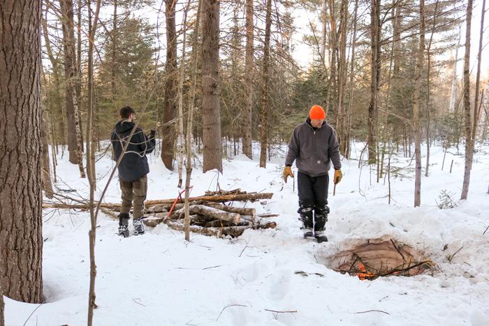 Getting Firewood Ready