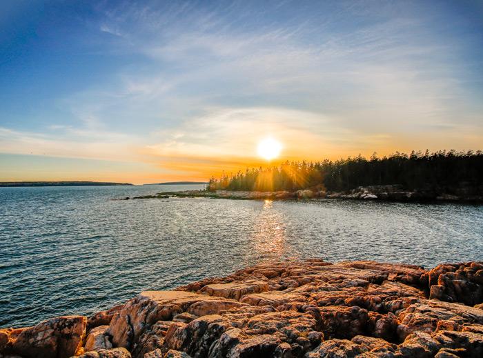 Sunburst Over The Rocky Maine Coast