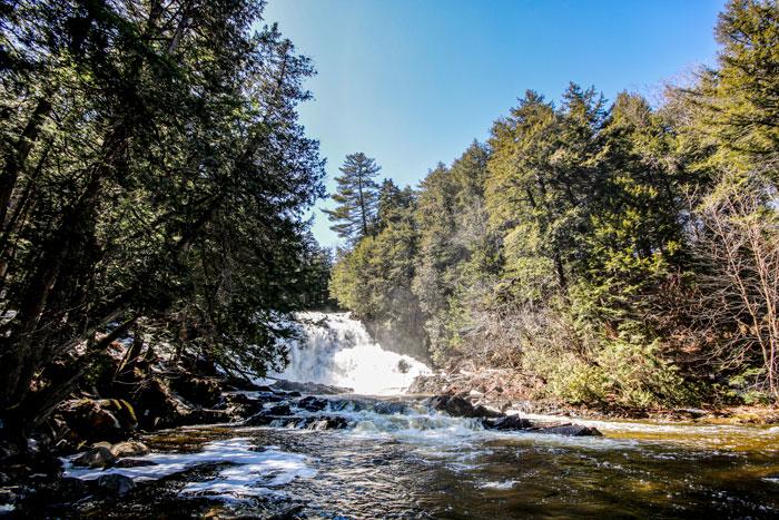 Waterfall In A Blue Sky