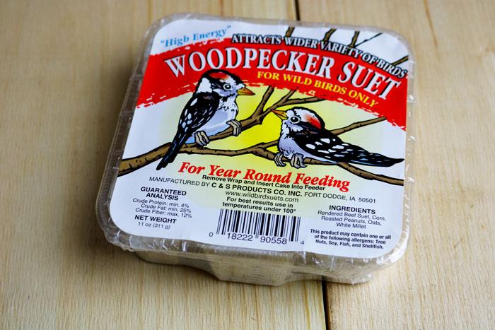 Woodpecker Suet Front