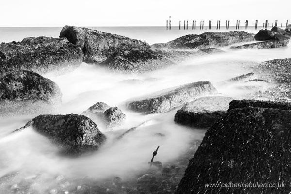 Seascape In Black And White